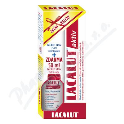 Lacalut Aktiv zub.pasta 75ml+ústní voda 50ml ZDAR.
