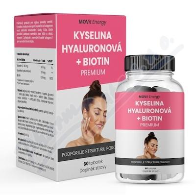 MOVit Kyselina hyaluronová + Biotin PREMIUM 60 tobolek