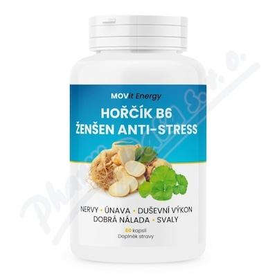 MOVit Hořčík B6 Ženšen Anti-stress, 60 kapslí