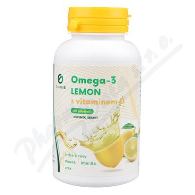 Omega-3 LEMON rybí olej s vit.D tob.60 Galmed