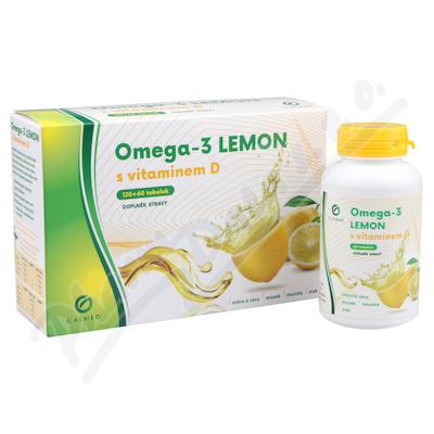Omega-3 LEMON rybí olej s vit.D tob.180 Galmed