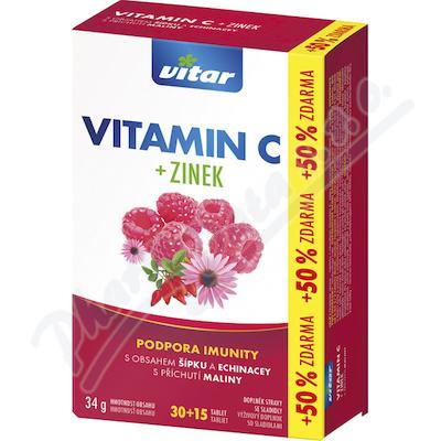 VITAR Vitamin C+zinek+echinacea+šípek tbl.30+15