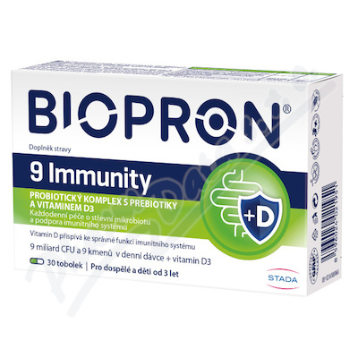Walmark Biopron9 Immunity s vitaminem D3 tob.30