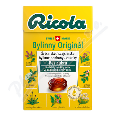 RICOLA Bylinný Originál bez cukru 40g