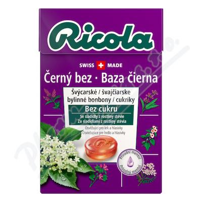 RICOLA Černý bez bez cukru 40g
