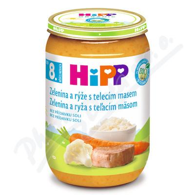 HiPP JUNIOR BIO Zelenina s rýží a telecím m. 220g
