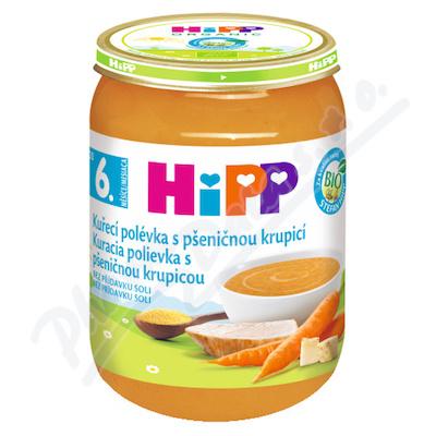 HiPP POLÉVKY BIO Kuřecí s pšeničnou krupicí 190g