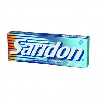 Saridon 250mg/150mg/50mg tbl.nob.20