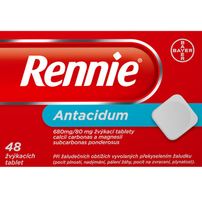 Rennie, žvýkací tablety, 48x