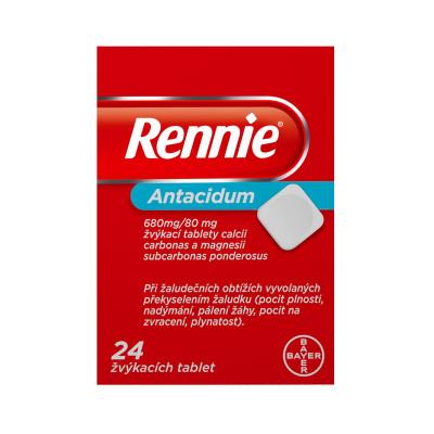 Rennie, žvýkací tablety, 24x