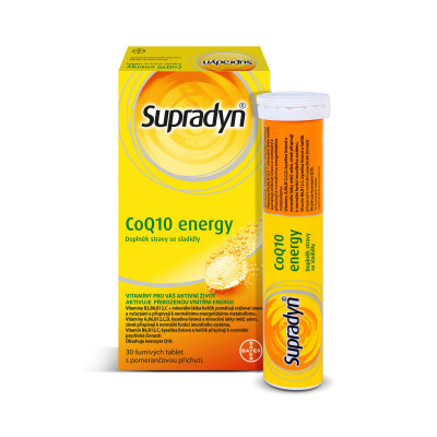 Supradyn Co Q10 energy 30 šumivých tablet multivitamin pro Vaši přirozenou energii