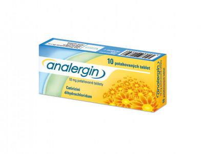 ANALERGIN, 10mg, potahované tablety, 10ks