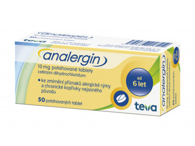 ANALERGIN, 10mg, potahované tablety, 50ks