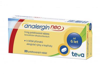 ANALERGIN NEO, 5mg, potahované tablety, 20ks