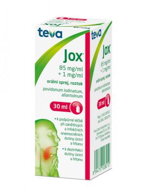 JOX, 85mg/ml+ 1mg/ml, orální sprej, roztok, 30ml