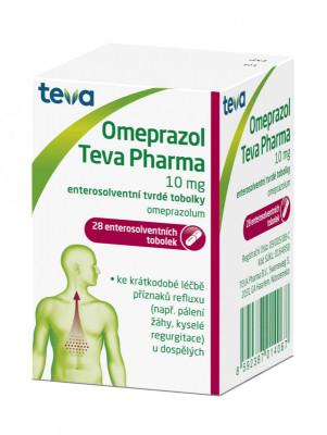 Omeprazol Teva Pharma, 10 mg, enterosolventní tvrdá tobolka, 28ks