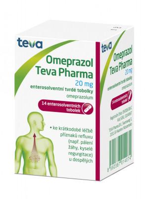 Omeprazol Teva Pharma, 20mg, enterosolventní tvrdá tobolka, 14ks