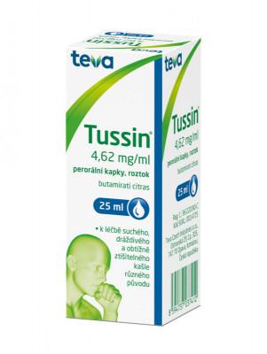TUSSIN, 4,62mg/ml, perorální kapky, roztok, 25ml