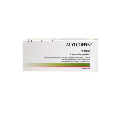 Acylcoffin 450 mg/ 50 mg, neobalené tablety, 10 ks