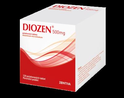 Diozen 500 mg, potahované tablety, 120 ks