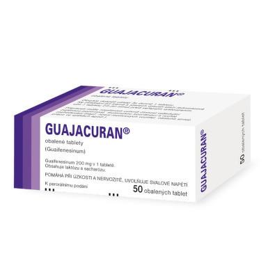 Guajacuran 200 mg, obalené tablety, 50 ks