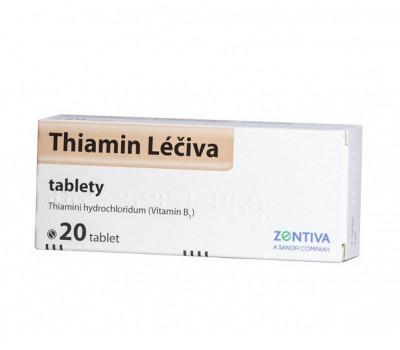 Thiamin Léčiva 50 mg, neobalené tablety, 20 ks