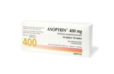Anopyrin 400 mg, neobalené tablety, 10 ks