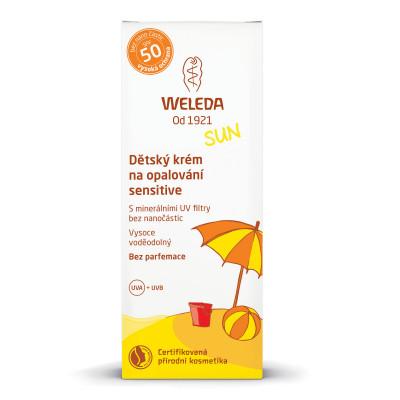 WELEDA Dětský krém na opalování SPF50 sensitive 50 ml