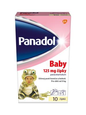 Panadol Baby 125mg čípky 10 ks