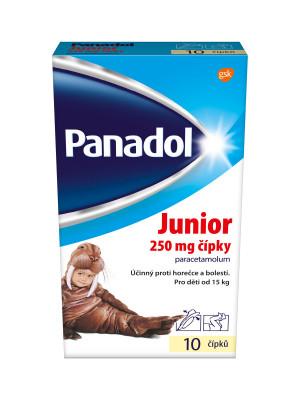 Panadol Junior 250mg čípky 10 ks