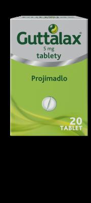 GUTTALAX® 5 mg, tablety, 20 ks
