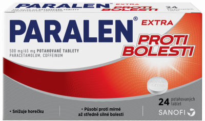 PARALEN EXTRA proti bolesti  500 mg/ 65 mg potahované tablety 24 ks