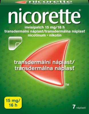 Nicorette® invisipatch 15 mg/ 16 h transdermální náplast 7 ks pro odvykání kouření