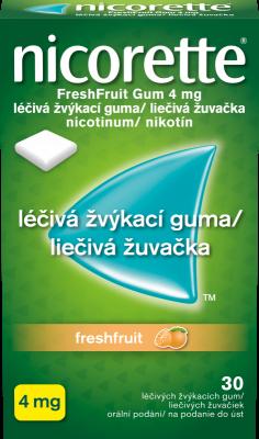 Nicorette® FreshFruit Gum 4 mg léčivá žvýkací guma 30ks pro odvykání kouření