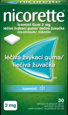 Nicorette® Icemint Gum 2mg léčivá žvýkací guma 30ks pro odvykání kouření