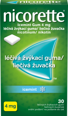 Nicorette® Icemint Gum 4mg léčivá žvýkací guma 30ks pro odvykání kouření