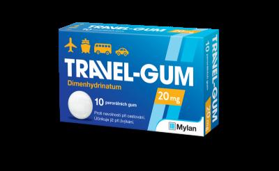 Travel Gum 20mg léčivé žvýkací gumy 10 ks