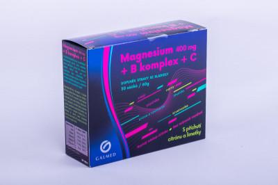 Magnesium 400 mg + B komplex + C 30 sáčků Galmed