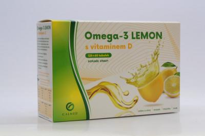 Omega-3 Lemon rybí olej s vit D Galmed 180 tob