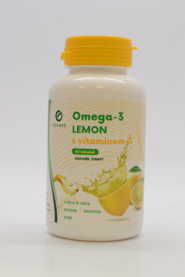 Omega-3 Lemon rybí olej s vit D Galmed 60 tob