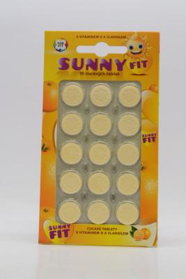 SunnyFit Galmed vitamín D pro děti cucavé tablety 15 tbl