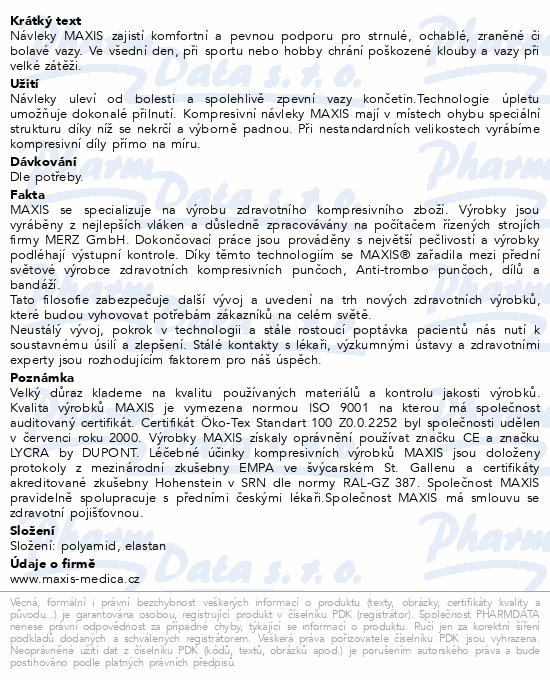 Maxis kolenní návlek III.vel.3 šedá