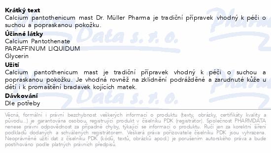 Calcium pantothenicum mast 30ml Dr.Müller