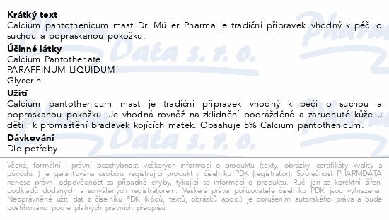 Calcium pantothenicum mast 100g Dr.Müller