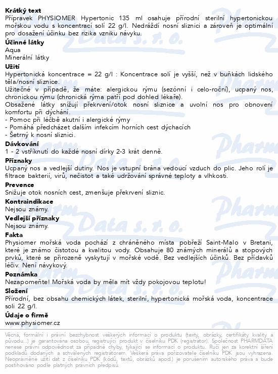 Physiomer Hypertonic 135ml