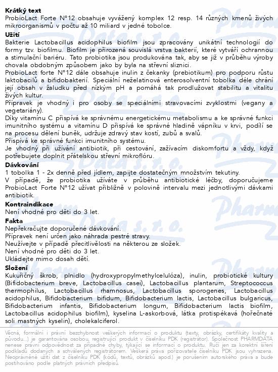 Favea ProbioLact Forte N°12 tob.30