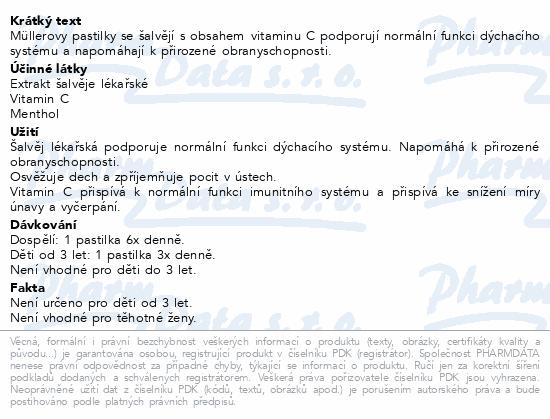 Müllerovy pastilky se šalvějí bez cukru CZ/SK 36ks