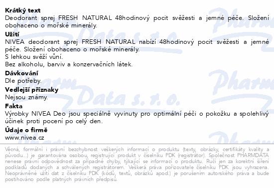 NIVEA Deo sprej Fresh Natural 150ml 81601