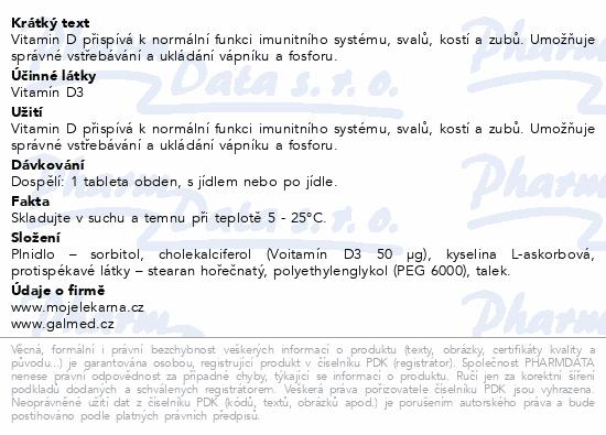 Vitamín D 2000 IU tbl.60+20 Moje lékárna