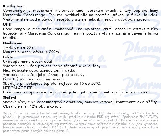 Dr.Svatek CONDURANGO Medicinální víno 500ml